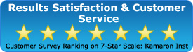 Customer Survey Ranking on 7-Star Scale: Kamaron Institute