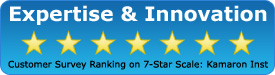 Customer Service Ranking on 7-Star Scale: Kamaron Institute